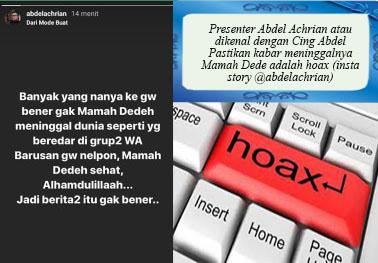 Tidak Benar Mama Dedeh Meninggal, Tetapi Dedeh Syahrawati Istri Mantan Wakgub Banten, Mohammad Masduki